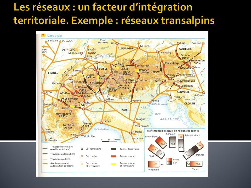 Les réseaux : un facteur d'intégration territoriale
