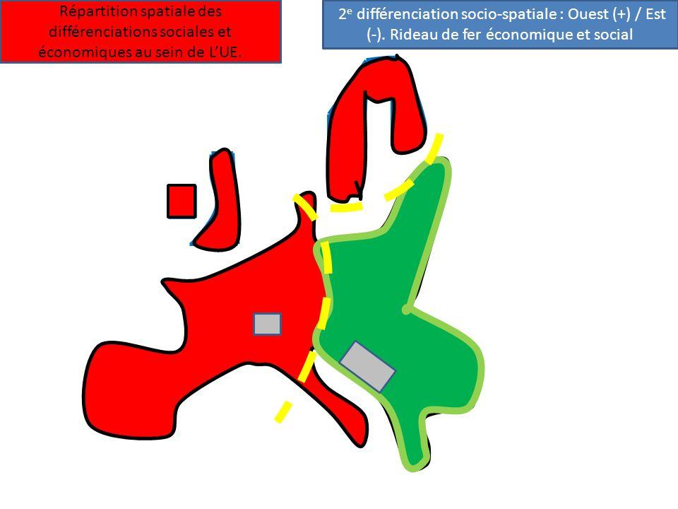 Répartition spatiale des différenciations sociales et économiques au sein de L'UE.