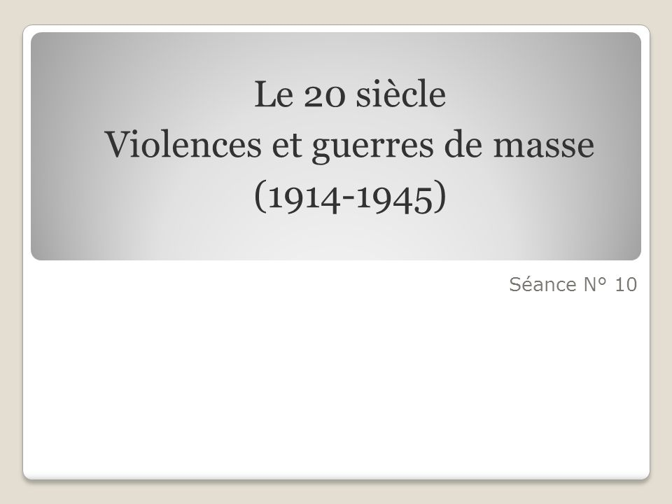 Violences et guerres de masse