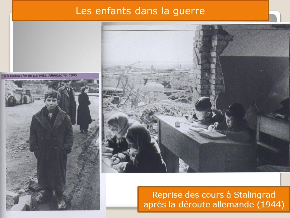 Les enfants dans la guerre