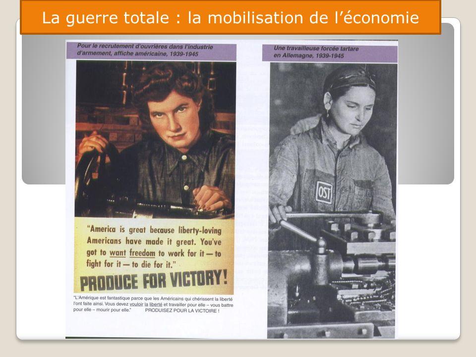 La guerre totale : la mobilisation de l'économie