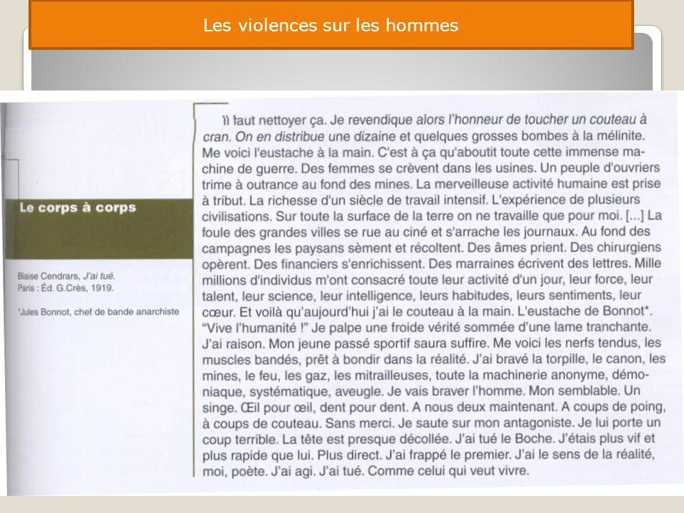 Les violences sur les hommes
