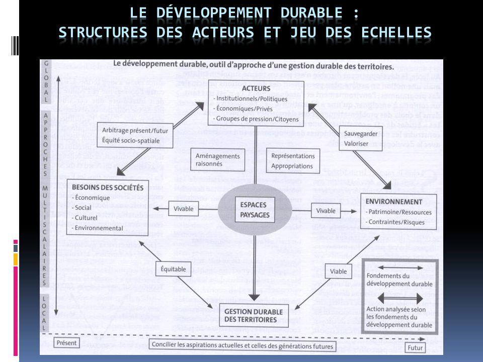 Le Développement durable : STRUCTURES DES ACTEURS ET JEU DES ECHELLES