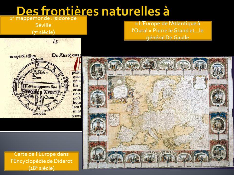 Des frontières naturelles à l'Europe