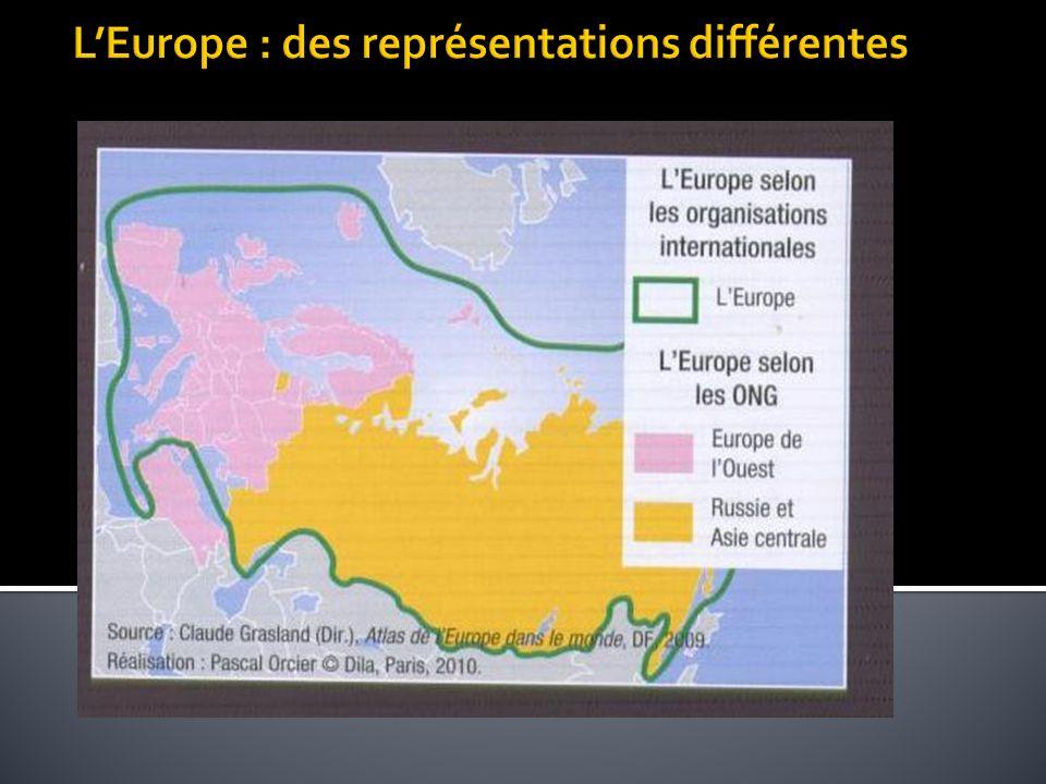 L'Europe : des représentations différentes