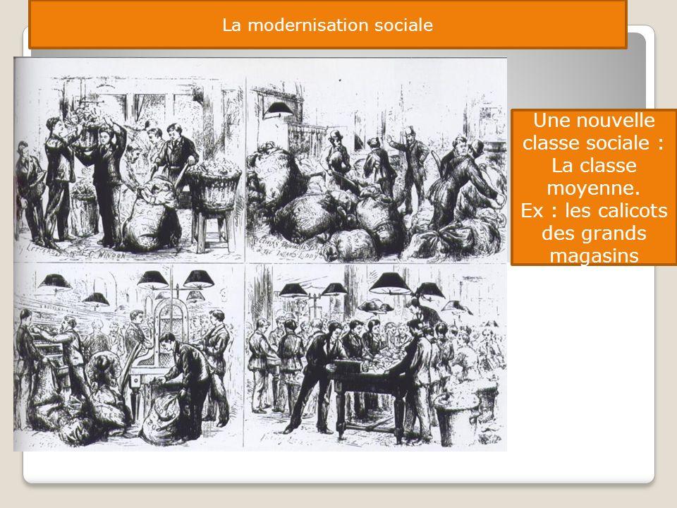 Une nouvelle classe sociale : La classe moyenne.