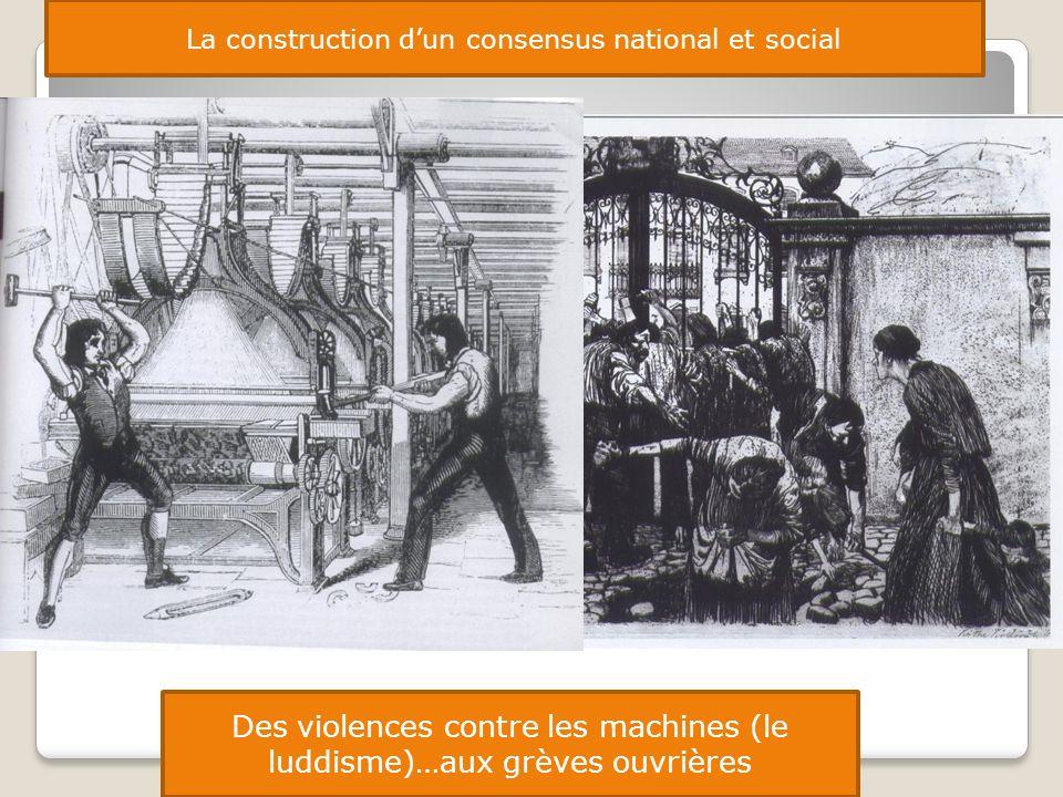 Des violences contre les machines (le luddisme)…aux grèves ouvrières