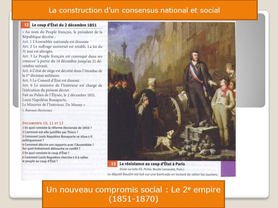 Un nouveau compromis social : Le 2e empire (1851-1870)