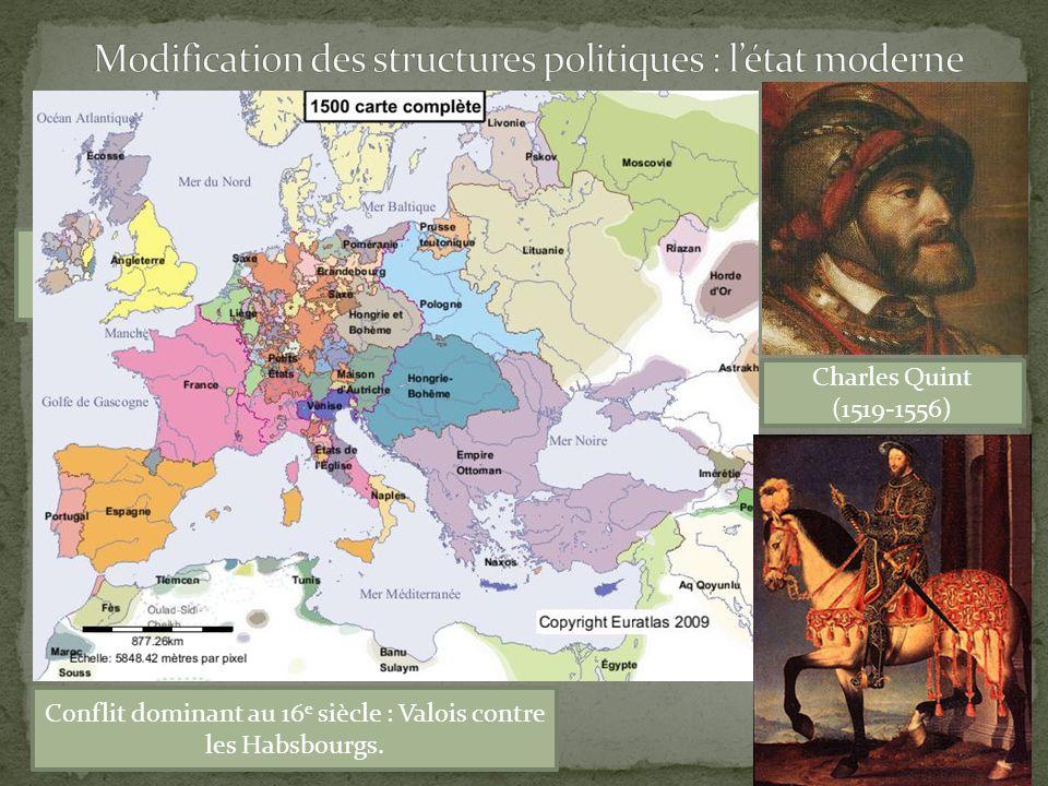 Modification des structures politiques : l'état moderne