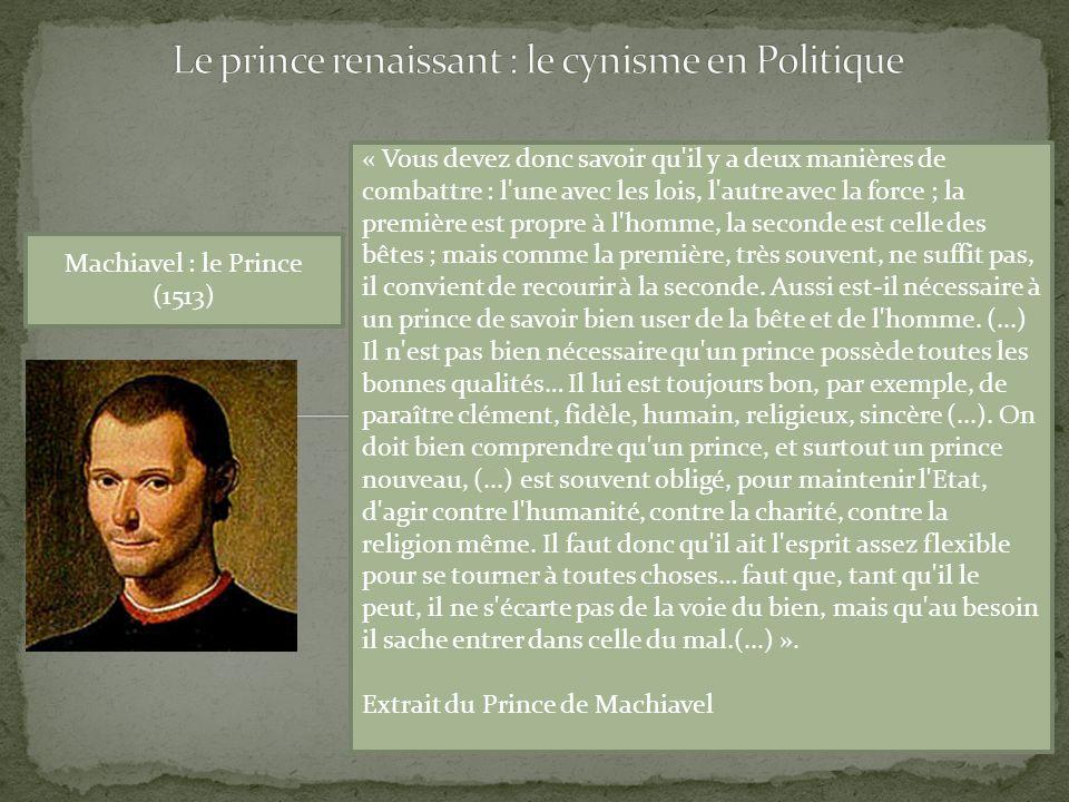 Le prince renaissant : le cynisme en Politique