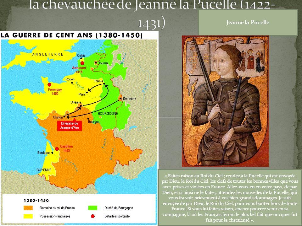 la chevauchée de Jeanne la Pucelle (1422-1431)