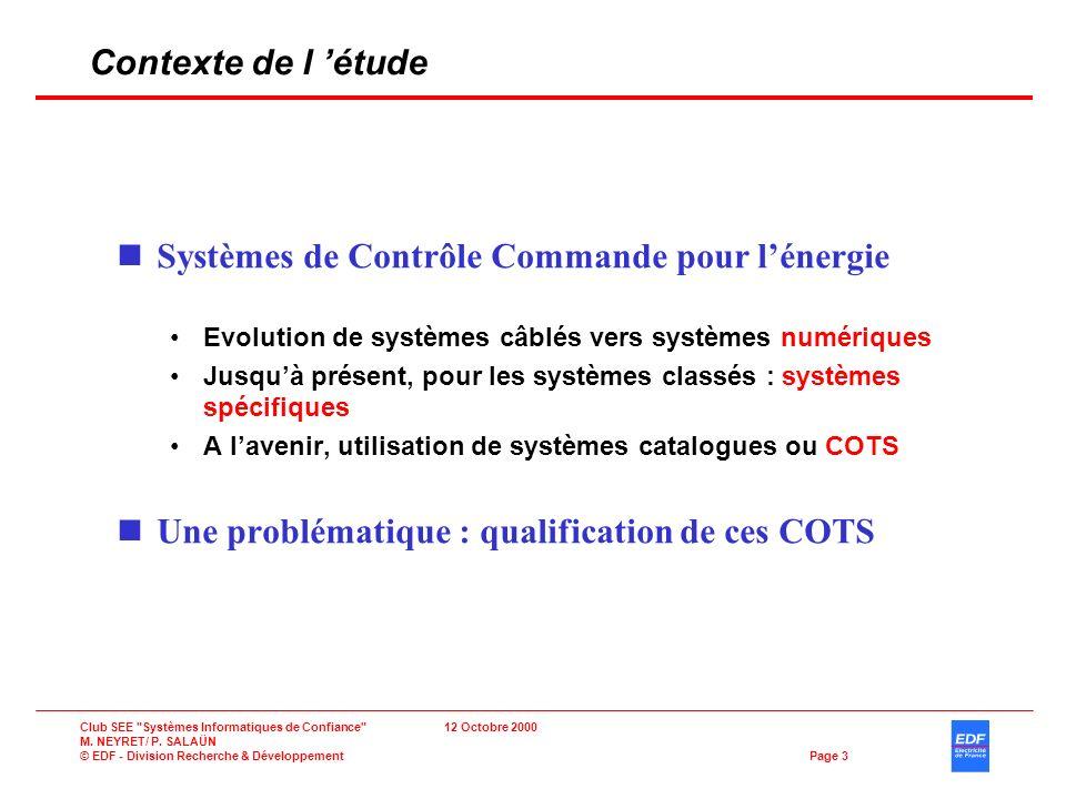 Systèmes de Contrôle Commande pour l'énergie