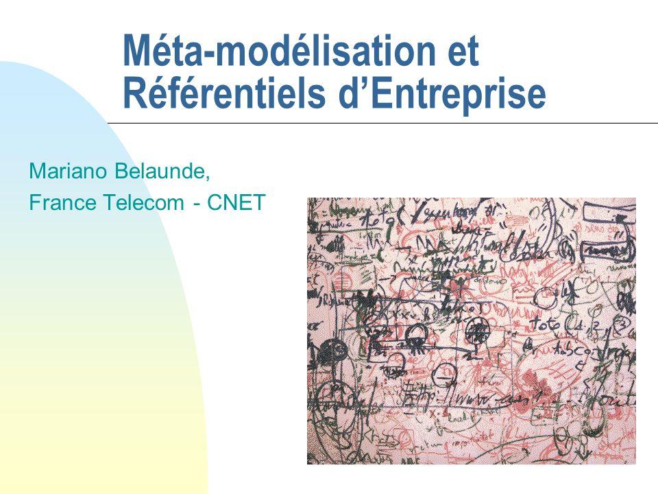 Méta-modélisation et Référentiels d'Entreprise