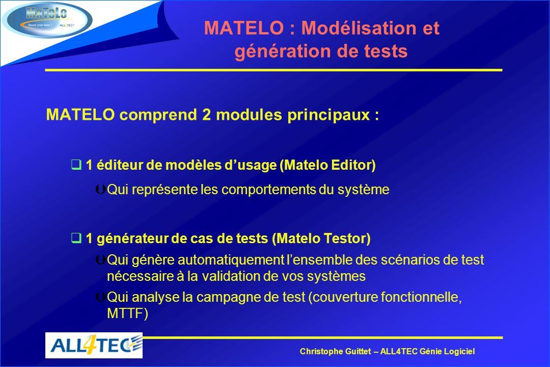 MATELO : Modélisation et génération de tests