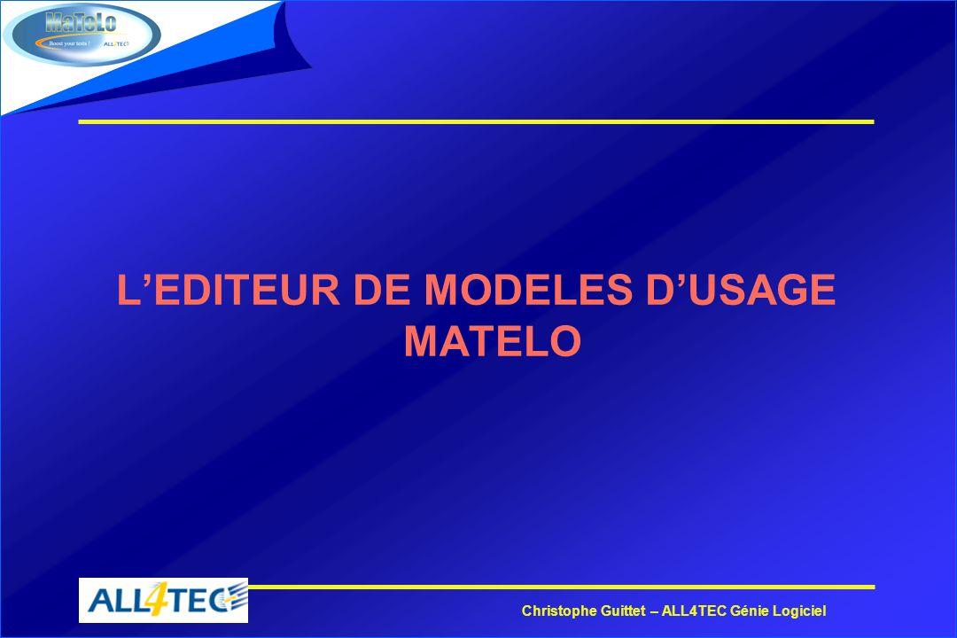 L'EDITEUR DE MODELES D'USAGE MATELO