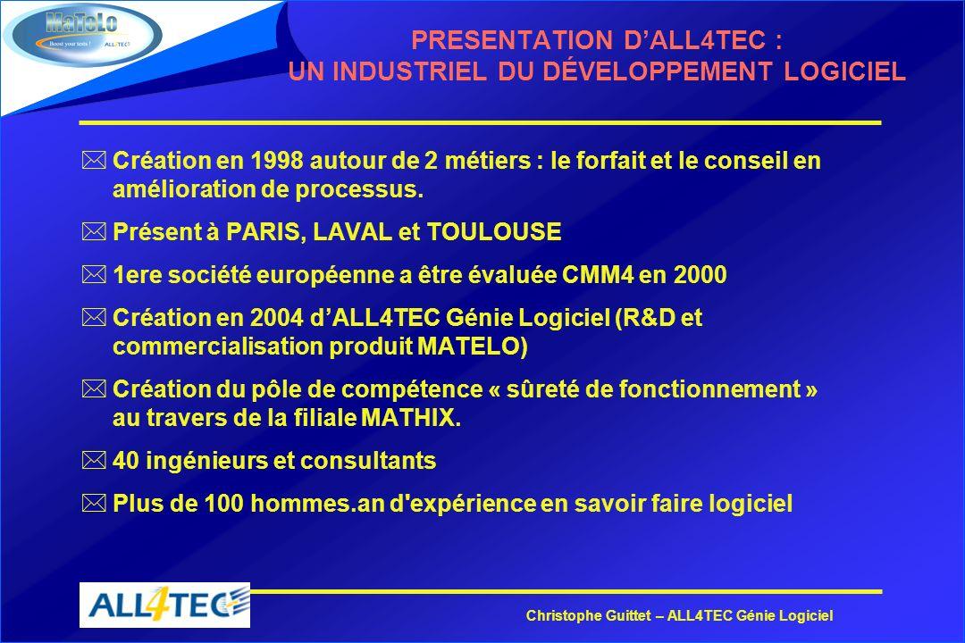 PRESENTATION D'ALL4TEC : UN INDUSTRIEL DU DÉVELOPPEMENT LOGICIEL