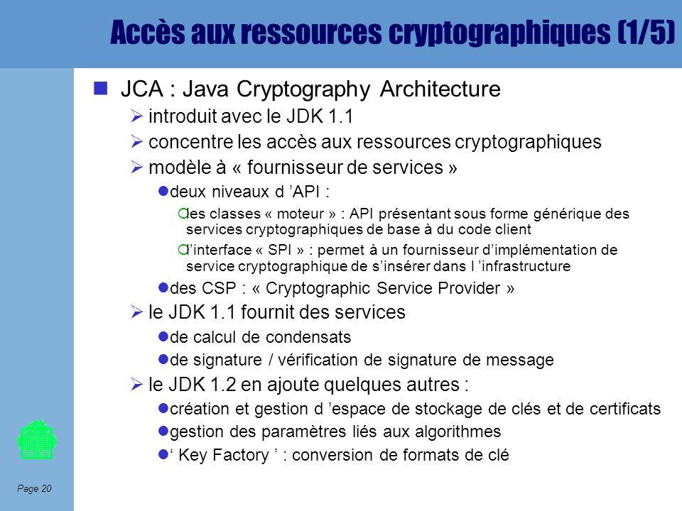 Accès aux ressources cryptographiques (1/5)