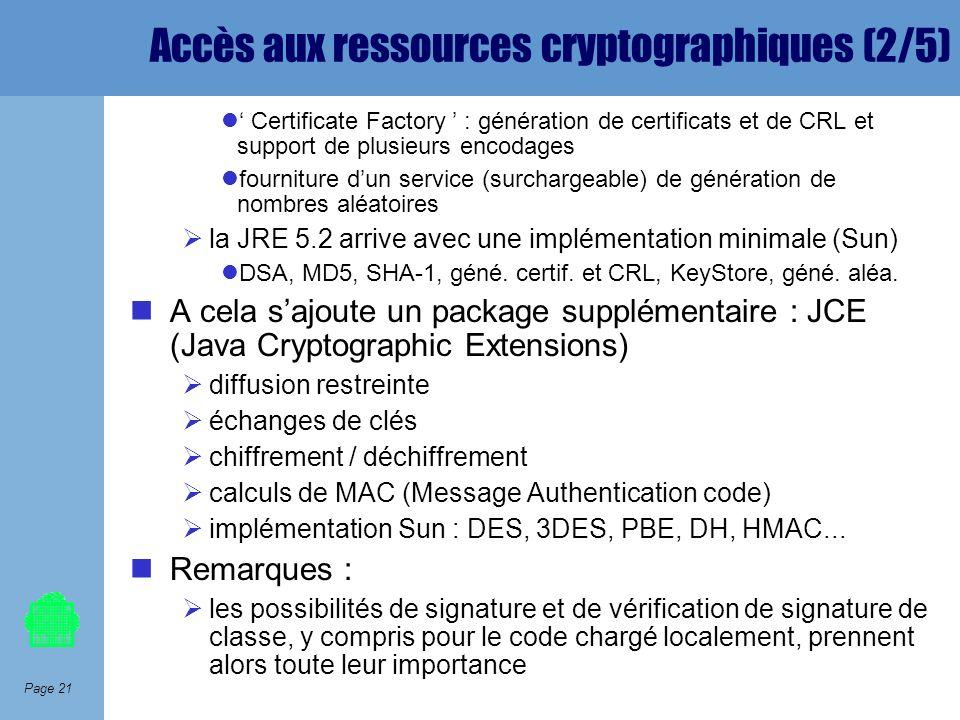 Accès aux ressources cryptographiques (2/5)