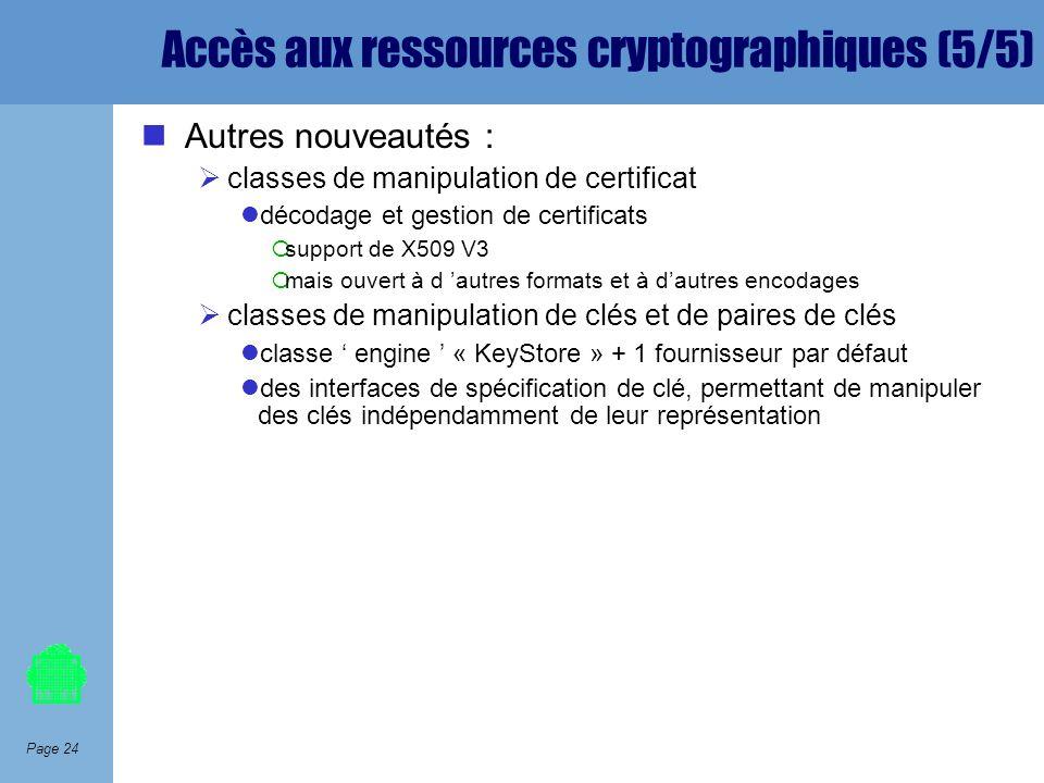 Accès aux ressources cryptographiques (5/5)