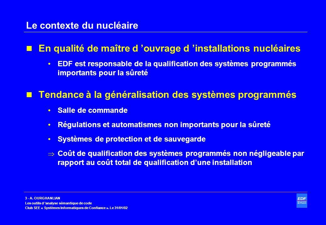 Le contexte du nucléaire