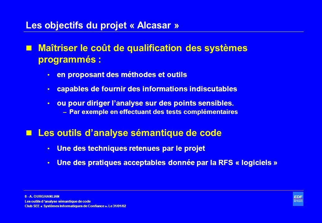 Les objectifs du projet « Alcasar »