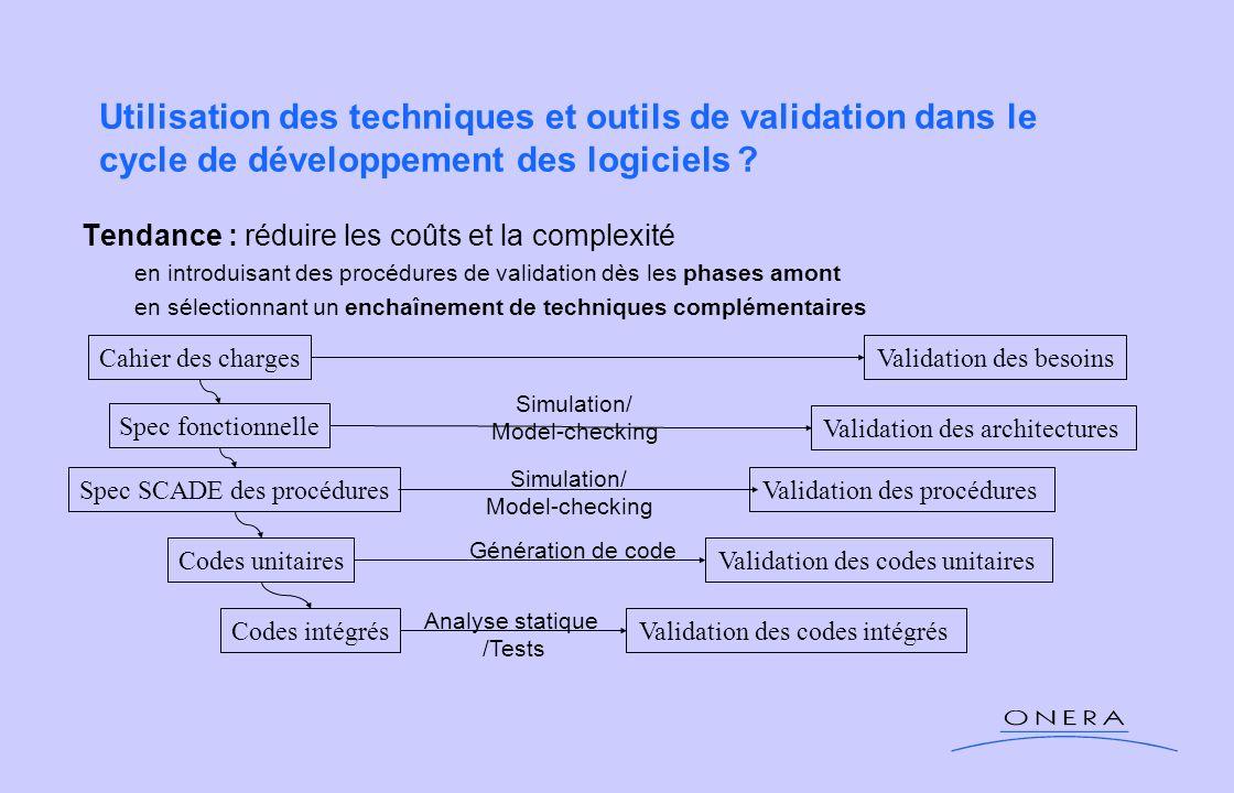 Utilisation des techniques et outils de validation dans le cycle de développement des logiciels