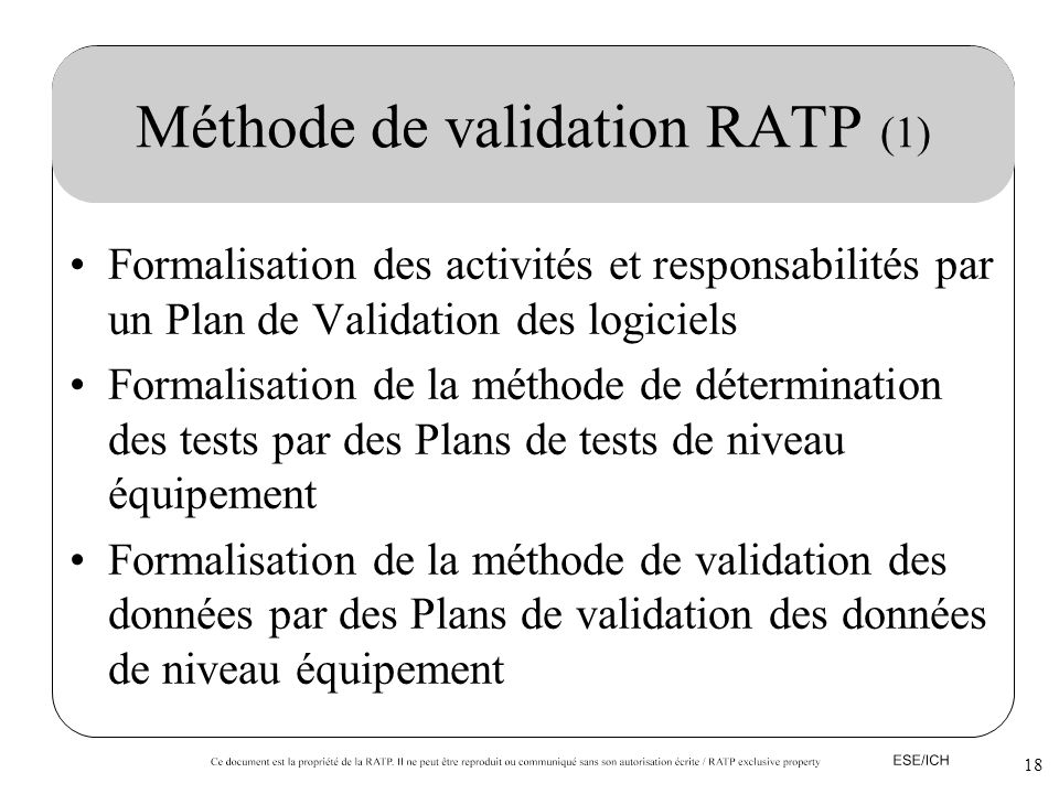 Méthode de validation RATP (1)