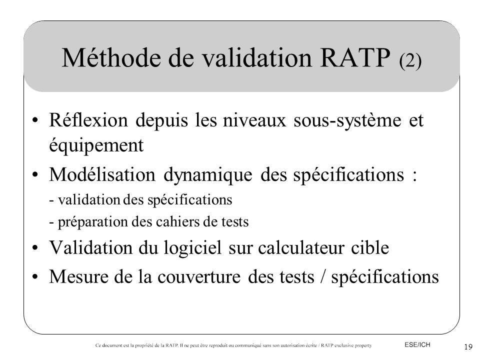 Méthode de validation RATP (2)