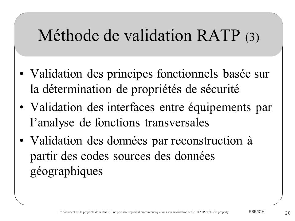 Méthode de validation RATP (3)