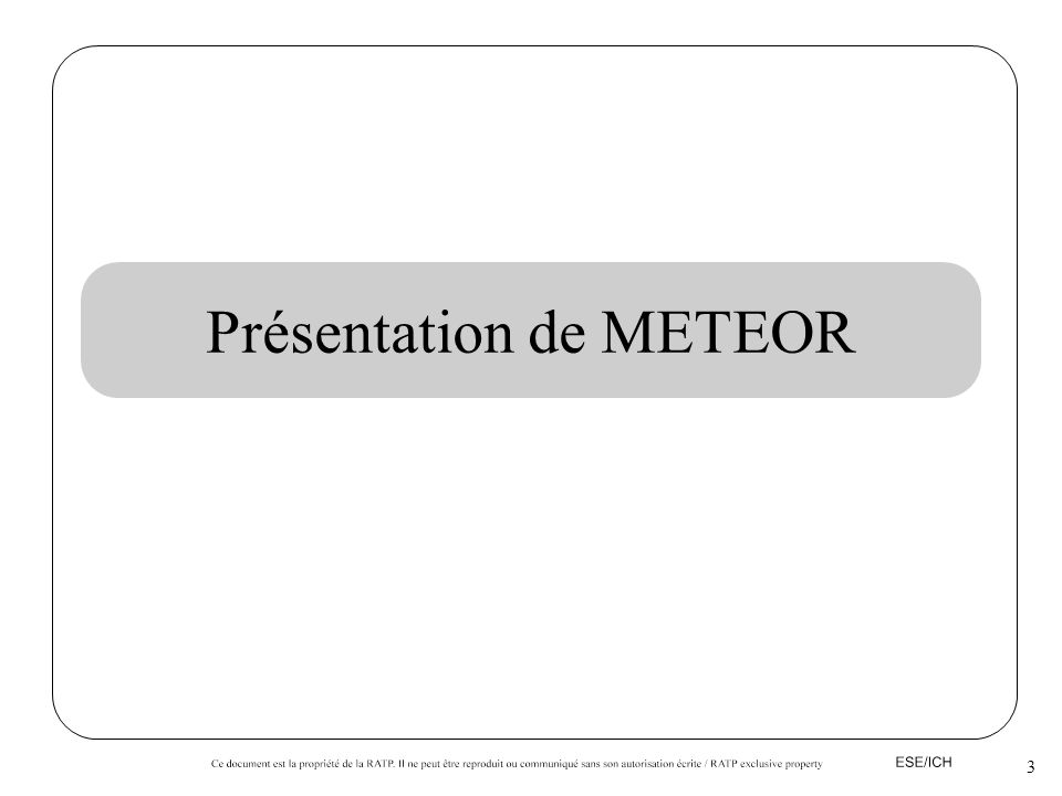 Présentation de METEOR