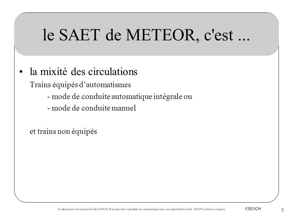 le SAET de METEOR, c est ... la mixité des circulations