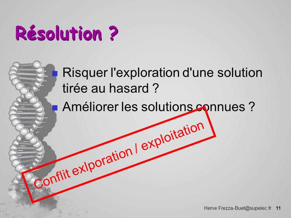 Conflit exlporation / exploitation