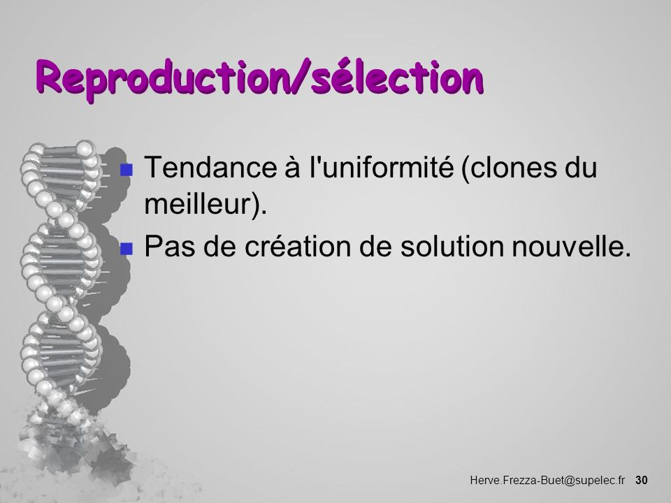 Reproduction/sélection