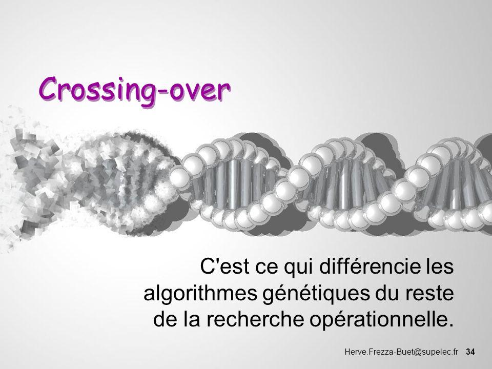 Crossing-over C est ce qui différencie les algorithmes génétiques du reste de la recherche opérationnelle.