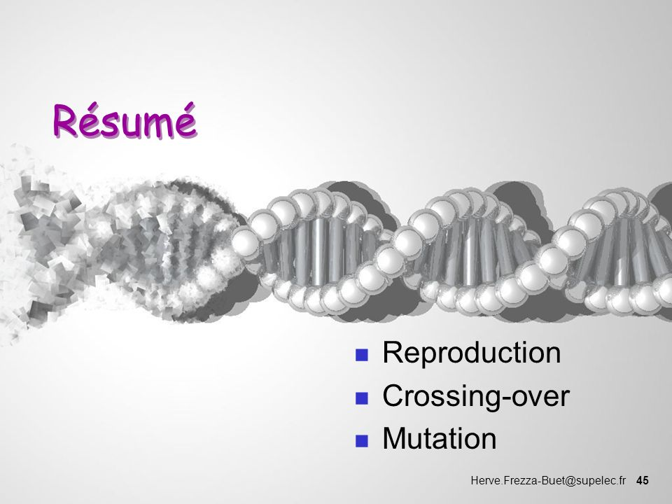 Reproduction Crossing-over Mutation