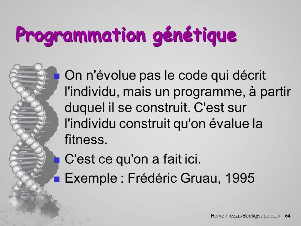 Programmation génétique