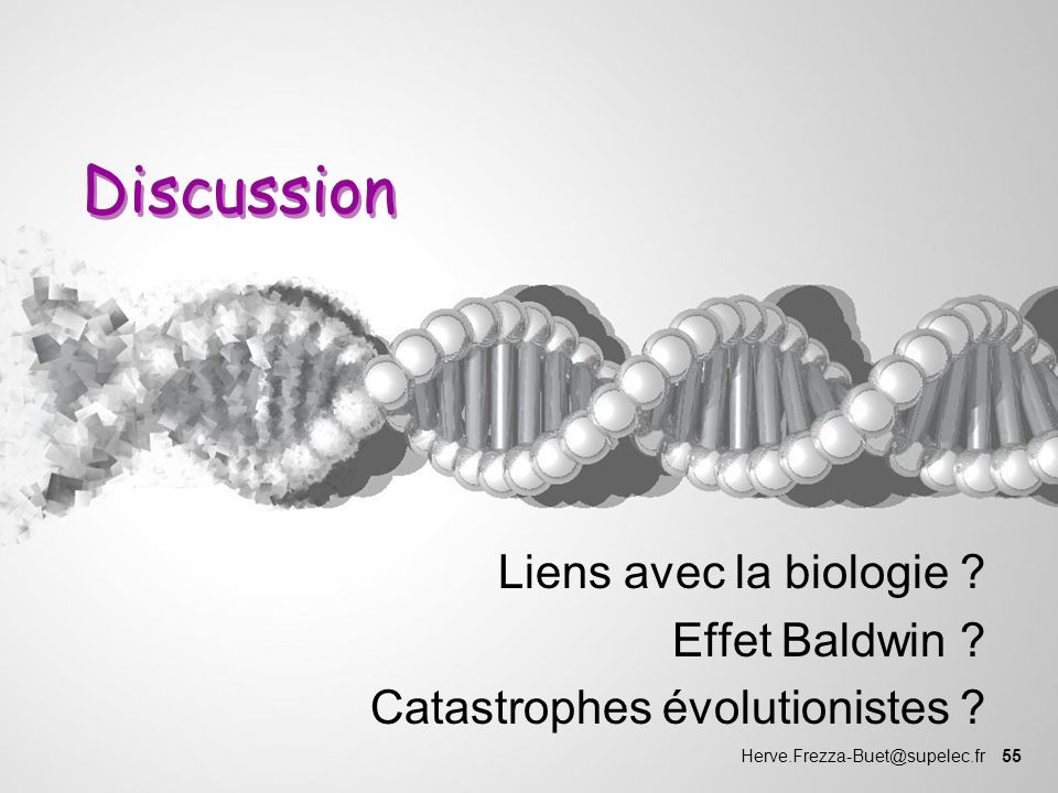 Liens avec la biologie Effet Baldwin Catastrophes évolutionistes