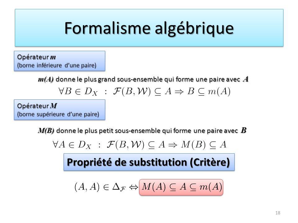 Formalisme algébrique