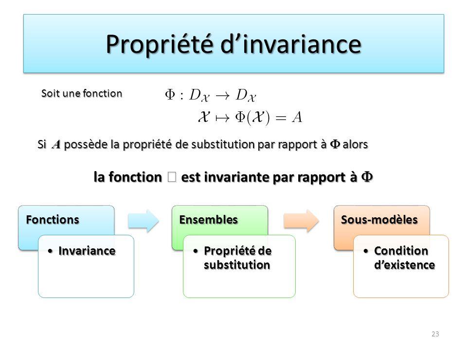 Propriété d'invariance