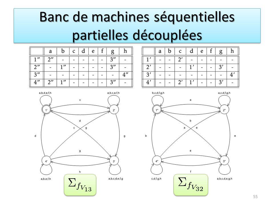 Banc de machines séquentielles partielles découplées