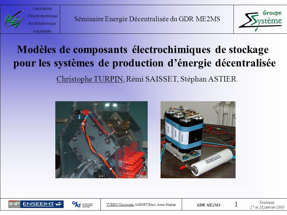 Modèles de composants électrochimiques de stockage