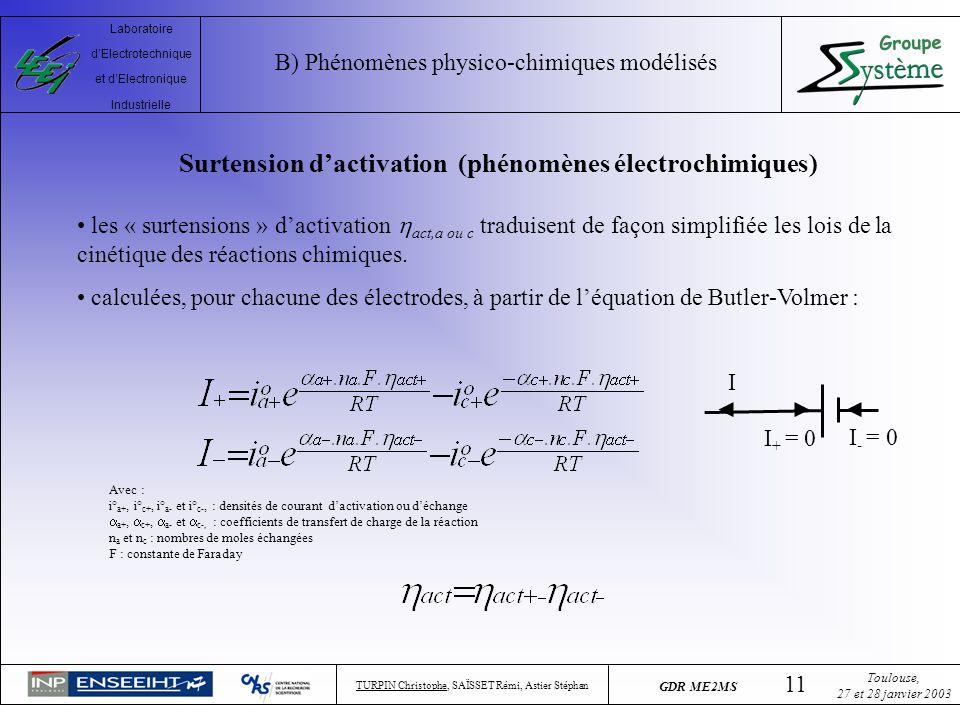 Surtension d'activation (phénomènes électrochimiques)