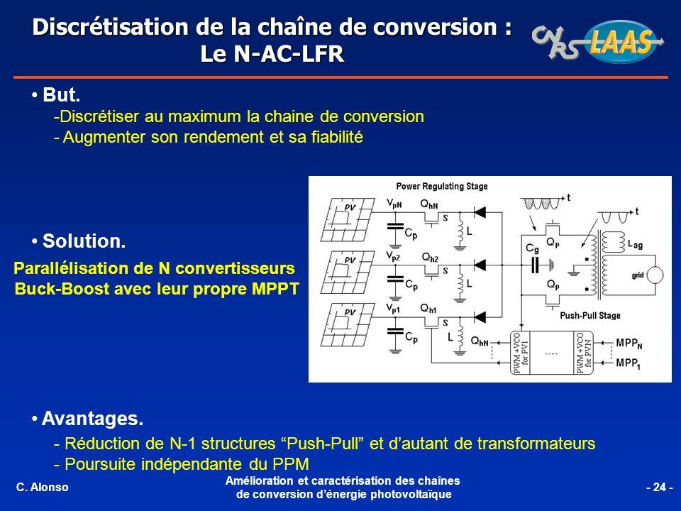 Discrétisation de la chaîne de conversion : Le N-AC-LFR