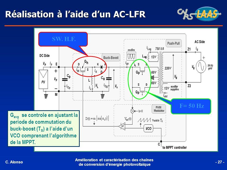 Réalisation à l'aide d'un AC-LFR