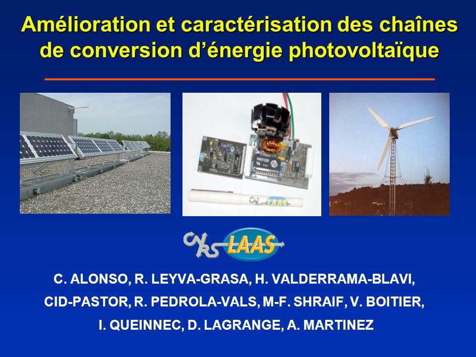 Amélioration et caractérisation des chaînes de conversion d'énergie photovoltaïque