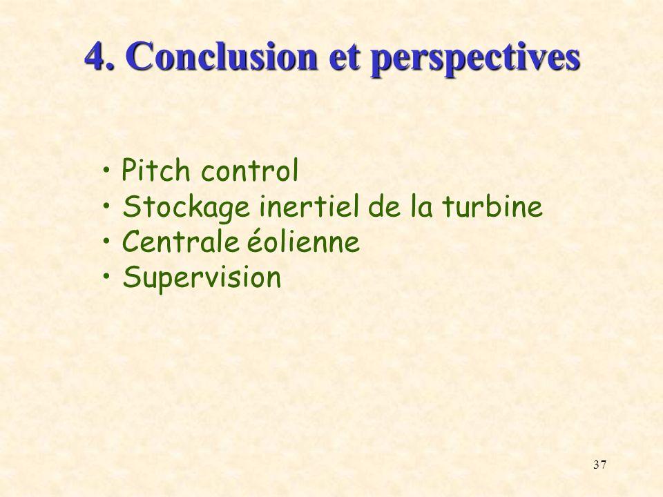 4. Conclusion et perspectives