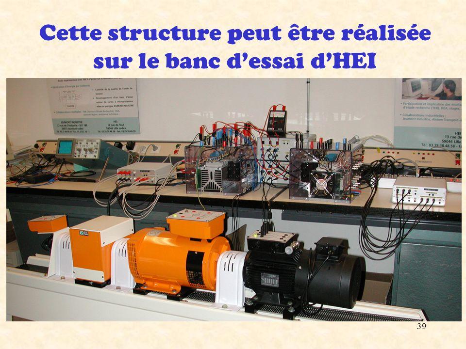 Cette structure peut être réalisée sur le banc d'essai d'HEI