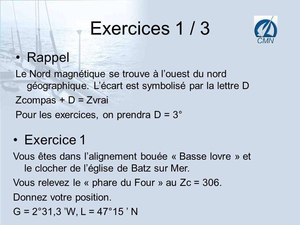 Exercices 1 / 3 Rappel Exercice 1