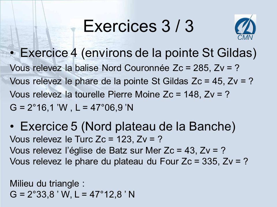 Exercices 3 / 3 Exercice 4 (environs de la pointe St Gildas)