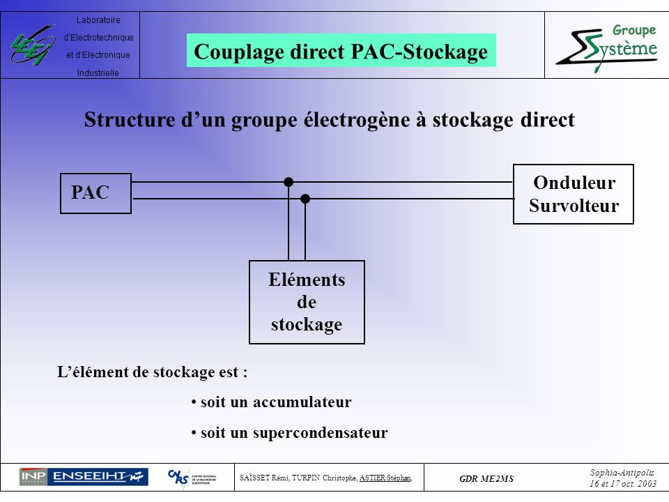 Couplage direct PAC-Stockage